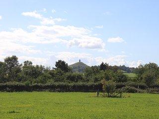 View of Glastonbury Tor.