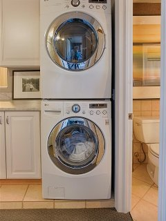 High Tech LG washer and dryer.