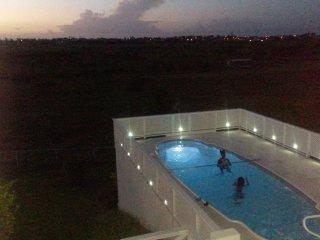 Enjoy a night swim under star lit skies