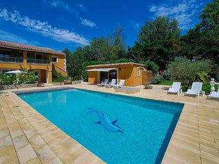 Au Soleil Ocre for 14 pers family house with swimming pool Avignon on an island