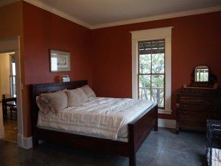 Master Bedroom. Super comfy king sized bed.