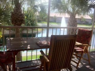 FANTASTIC 2BR 2BA CONDO WITH LAKE, FOUNTAIN, AND ISLAND VIEW.