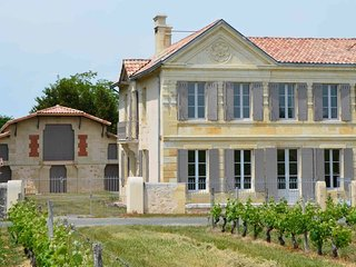 Chateau in Medoc, swimming pool- vineyards-ocean