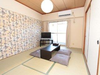 Namba 6mins★9PAX★JR&Subway★FREE WIFI★73