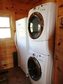 Laundry facilities at Beech View Lodge.