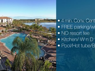 4 MIN TO CON. CENTER + FREE PRK/WIFI/POOL#26109