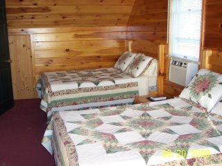 Bedroom #1 At our Cozy Cabin Overlooking the Dead River
