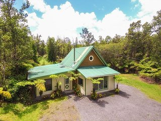 Beautiful Log Cabin on Private, Landscaped 3 Acres in Volcano