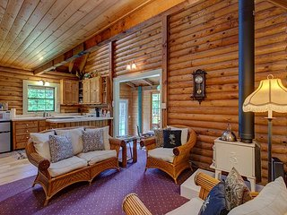 Beautiful Log Cabin on Private, Landscaped 3 Acres in Volcano, Hawaii!