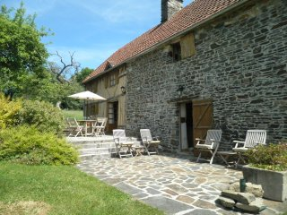 Lovely holiday gite in Barenton set in the rolling hills of Lower Normandy