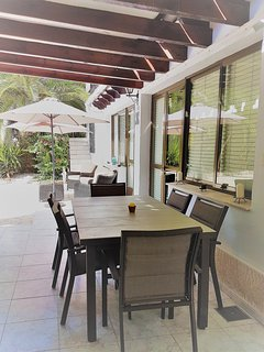 Fully equipped summer kitchen with dining area. Guests have exclusive use. BBQ use on request.