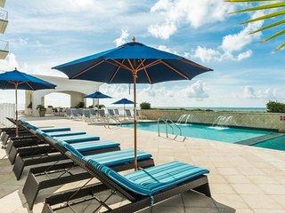 Elegant Gulf escape w/ shared pool, hot tub, beach access, & waterfront views