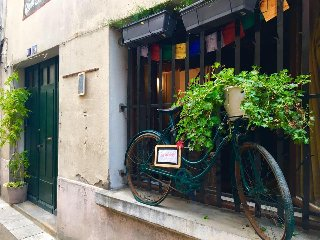 Historic Chateau de Foix in southern France - Bicycle friendly