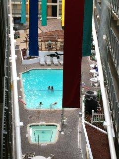Building B indoor pool area