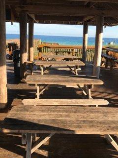 Tables under Pavilion