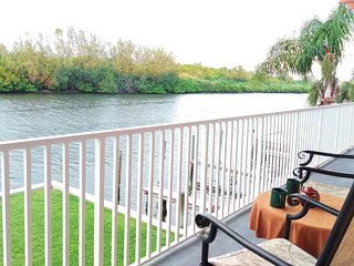 View on Intracoastal water. Have a coffee in the morning or glass of wine anytime and watch dolphins