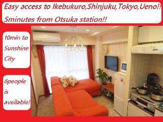 1Cozy&clean Ikebukuro City Free WIFI, EasyAccess Shinjuku,Shibuya,Ueno,Akihabara