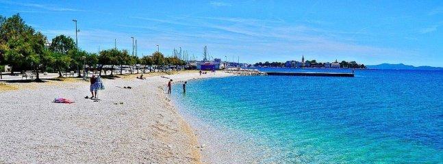 A pebble beach