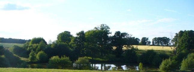 View down towards the fishing lake