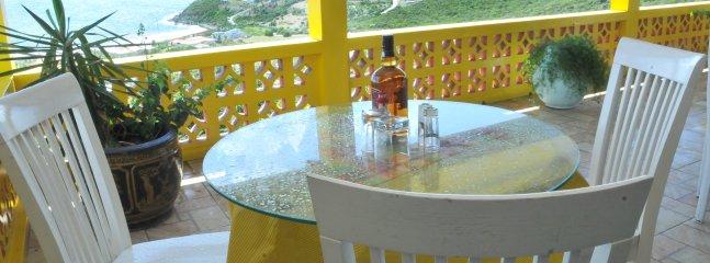Cocktail hour overlooking ocean