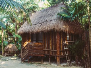 Eco Cabaña in the Jungle next to the Beach B