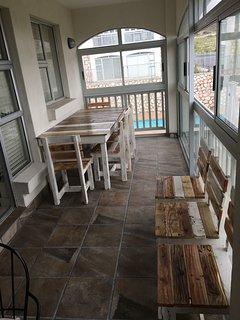 Very nice stoep and veranda area, full enclosed