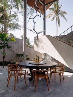 Outdoor Dining Area at Villa Panjang, caSabama Estate, Saba Bay, Bali