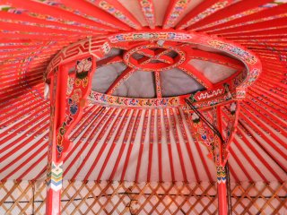 The Little Red Yurt
