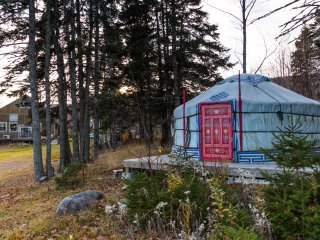 The Little Red Yurt at Cabot Shores