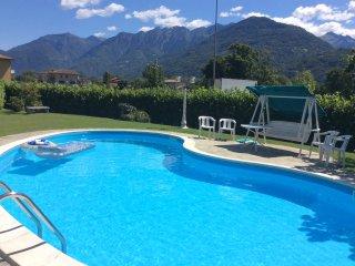 Casa vacanze Valtellina da un ora da Milano con piscina privata