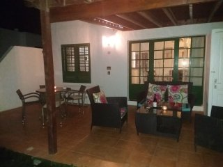Location, location.  Central but quiet bungalow in gated community.  Wifi/Aircon