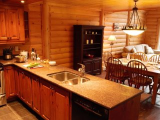Bright + Spacious Log Cabin in the Mountains | Outdoor Hot Tub Access!