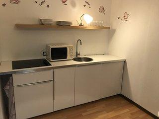 gemutliche Ferienwohnung in direkter Uninahe 1- Zimmer Appartement Kuche & Bad