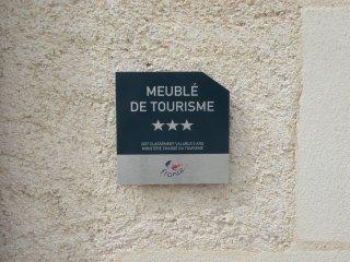 Cette location est classée Meublé de tourisme 3*