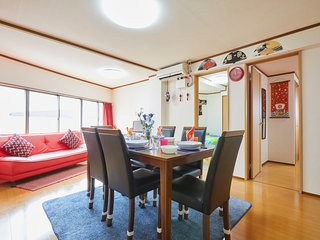 FAMILY APARTMENT★FOOD AREA★TRAIN 1min!★AIRPORT DIRECT!★