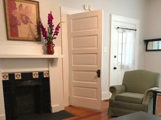 Renovated apartment in historic Montford home with short walk to downtown.