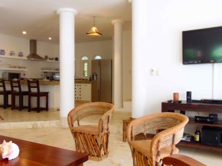 Playacar home with great light and 2 huge beach view terraces!