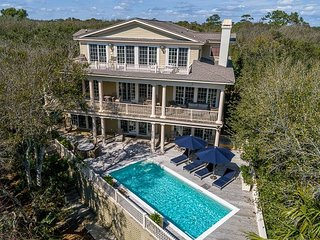 Ultimate island getaway house!  Oceanfront, private beach boardwalk and pool!
