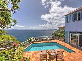 Oceanfront St. Thomas Villa w/Pool,Spa&Bay Views!