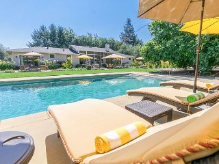 Poolside 3BR in Wine Country w/ Cabana, Hot Tub, Bocce Court & Fruit Trees
