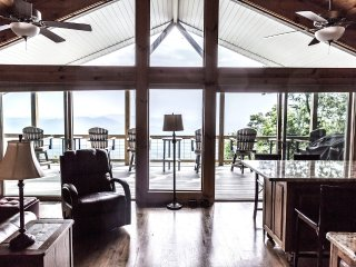 View of covered deck from main room.