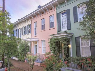 Stay Local in Savannah: Two Story Row Home with Exposed Brick and Courtyard