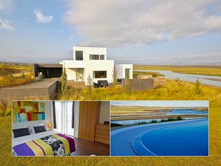 Luxury, Modern Amazing River/Mountain view on the Golden Circle