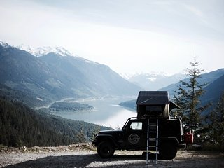 Jeep with 2 Person Tent from Hastings Overland, Vancouver, BC