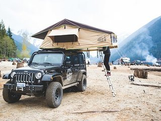 Jeep with 3 Person Tent from Hastings Overland, Vancouver, BC