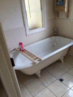 Soak in the claw foot bath