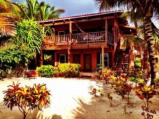 BeachFront Villa overlooks the ocean and reef