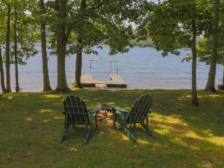 Lakefront home w/ dock, firepit & views - dogs OK, close to the state park!