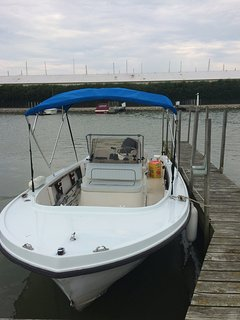 30' Boat dock w/power (available to reserve upon request–please inquire.)