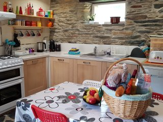 Kitchen - Open Plan, Fully fitted and equipped kitchen with cooker, fridge, dishwasher & microwave
